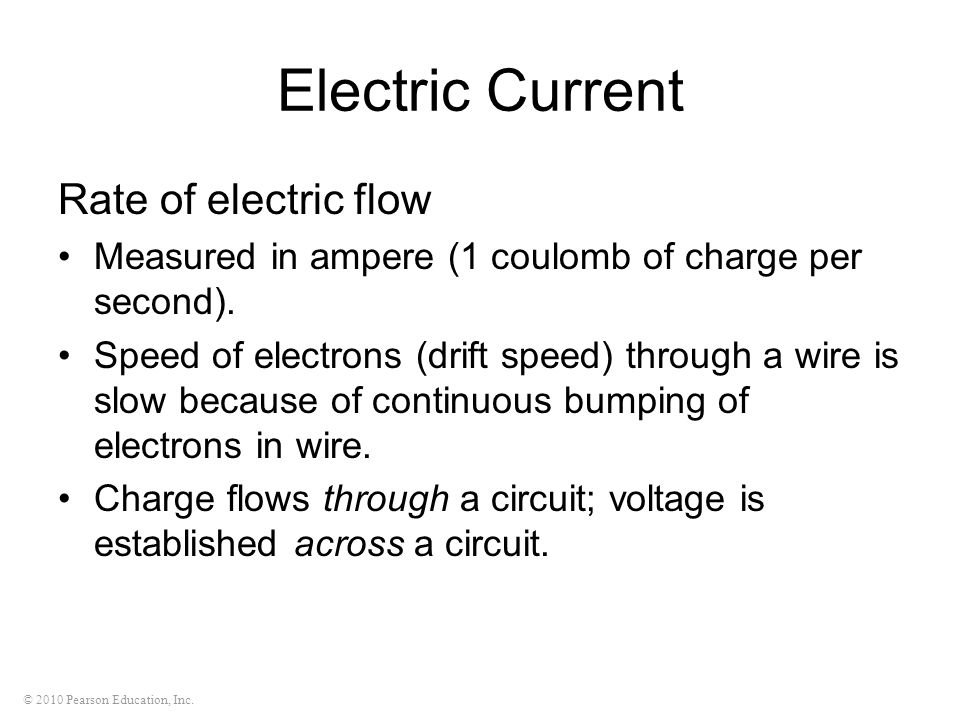 Electric Current Rate of electric flow