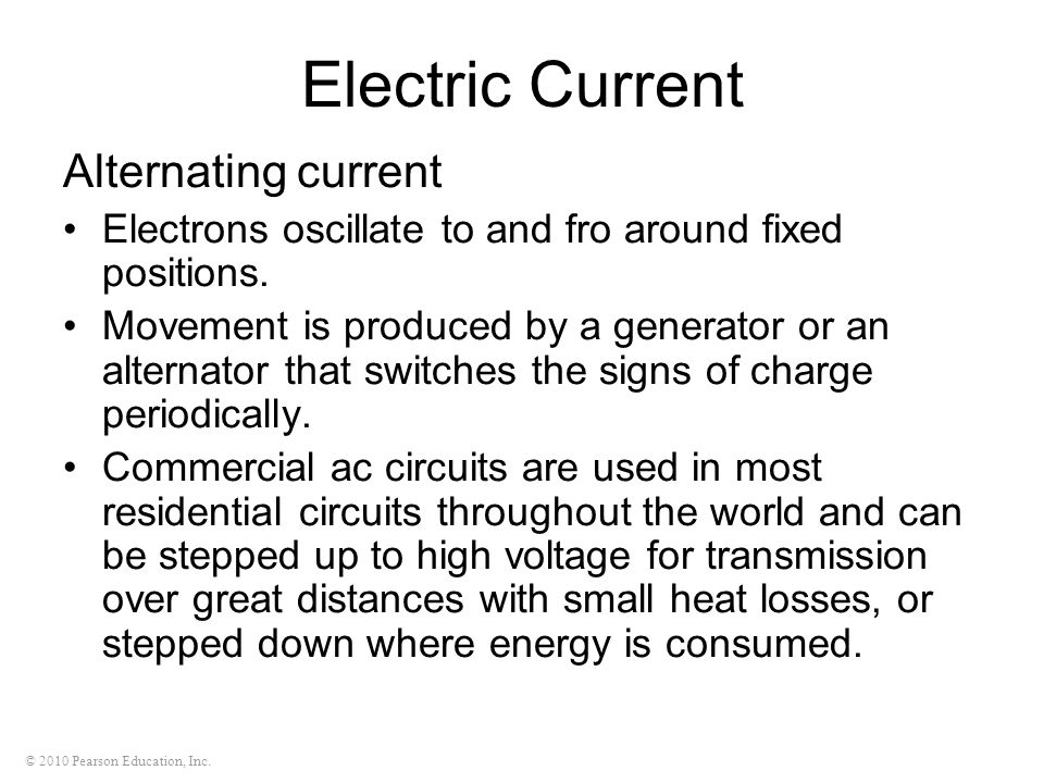 Electric Current Alternating current