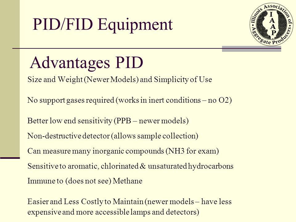 PID/FID Equipment Advantages PID
