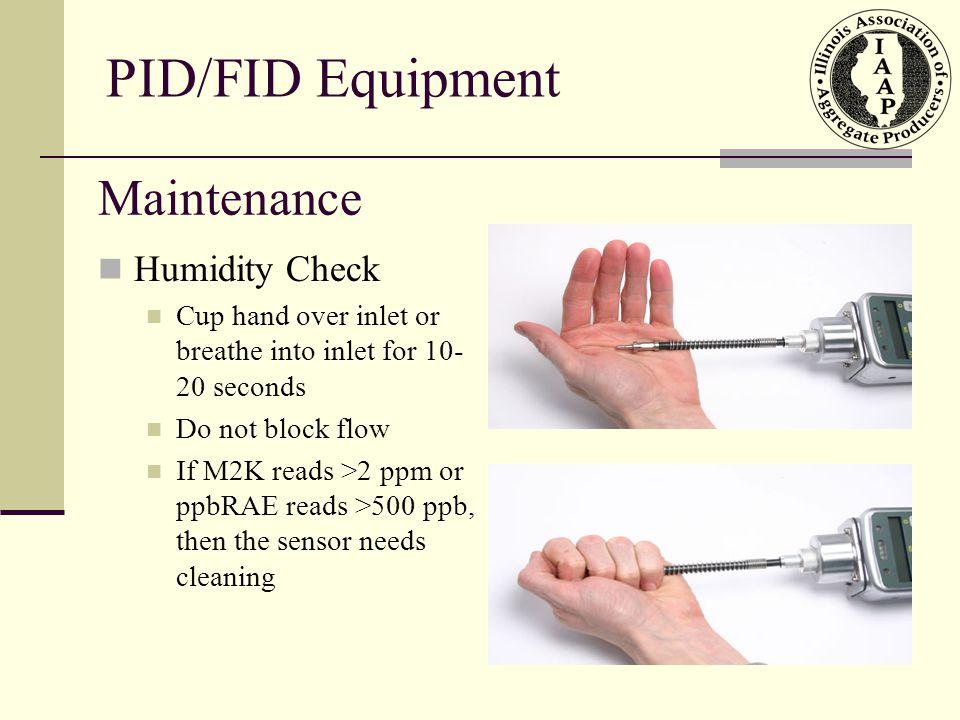 PID/FID Equipment Maintenance Humidity Check