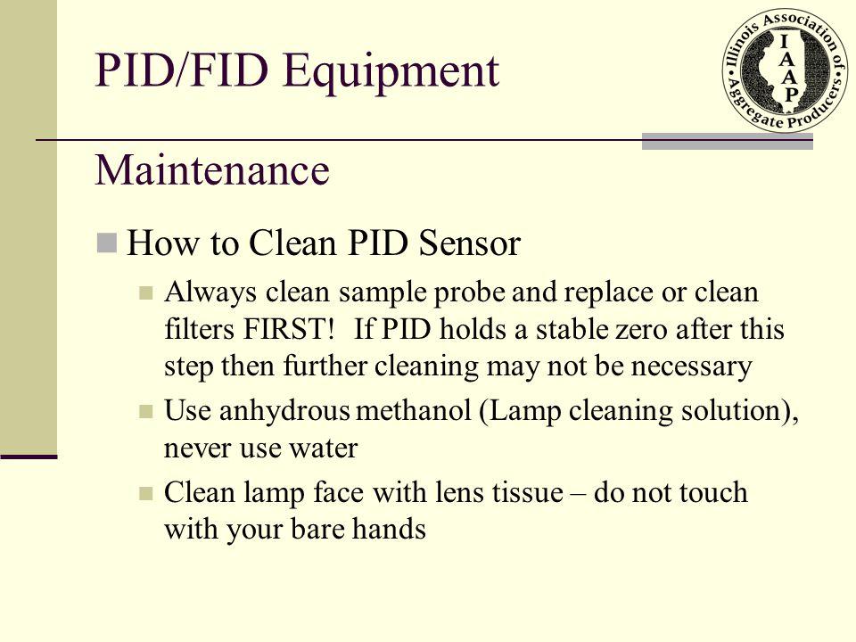 PID/FID Equipment Maintenance How to Clean PID Sensor