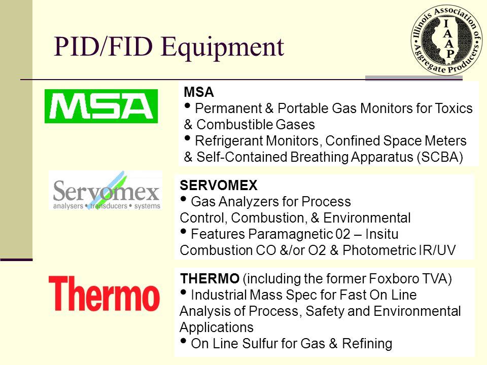 PID/FID Equipment MSA. Permanent & Portable Gas Monitors for Toxics & Combustible Gases.