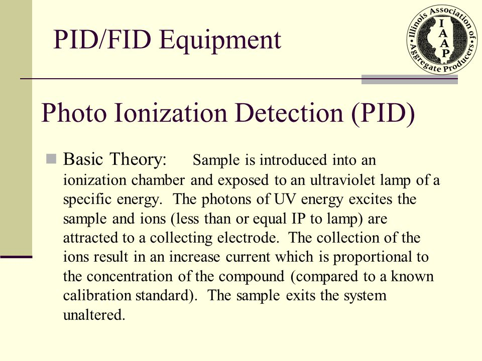 Photo Ionization Detection (PID)