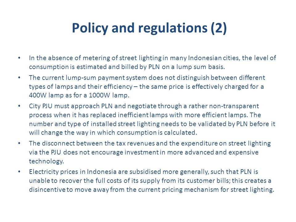 Policy and regulations (2)
