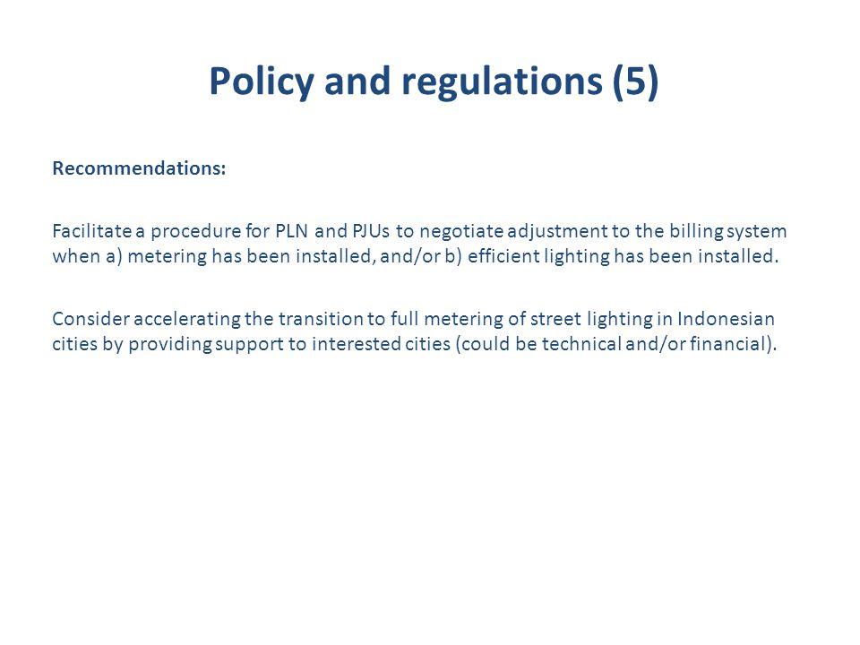 Policy and regulations (5)