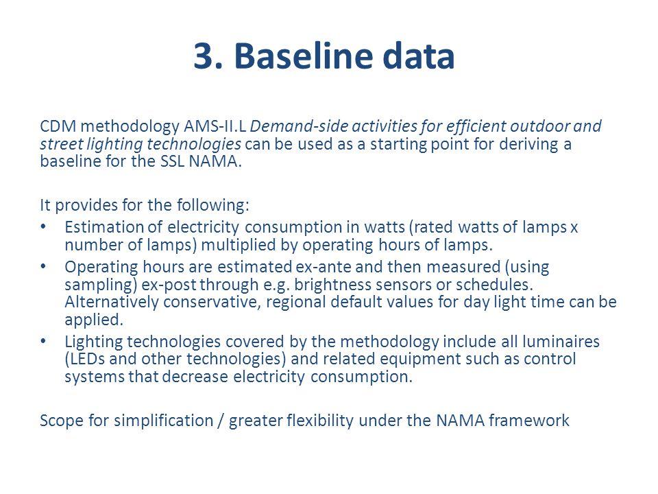 3. Baseline data