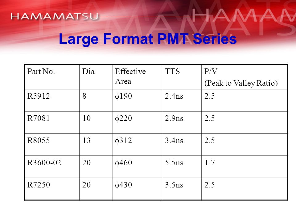 Large Format PMT Series