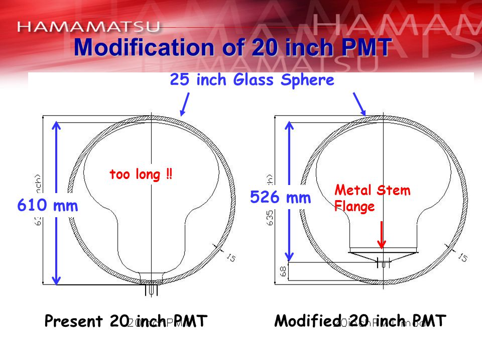 Modification of 20 inch PMT