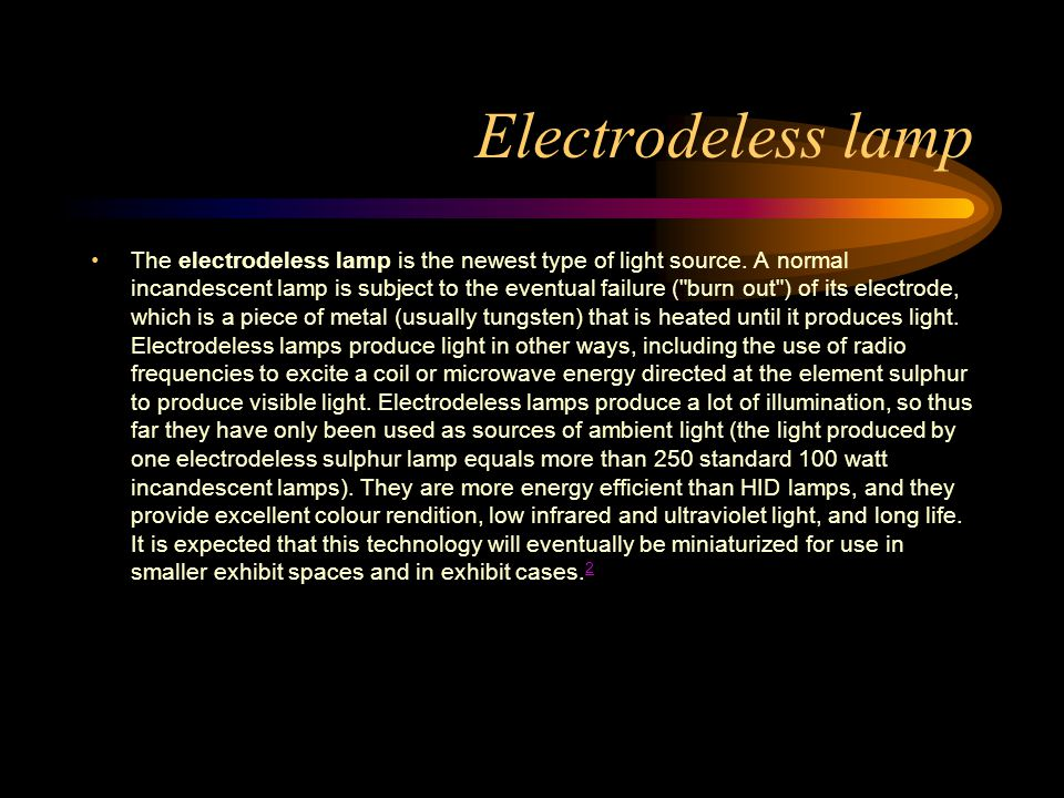 Electrodeless lamp