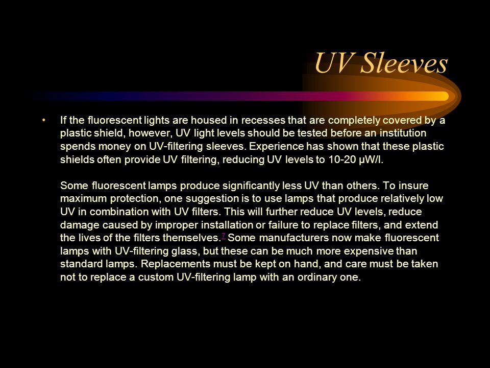 UV Sleeves