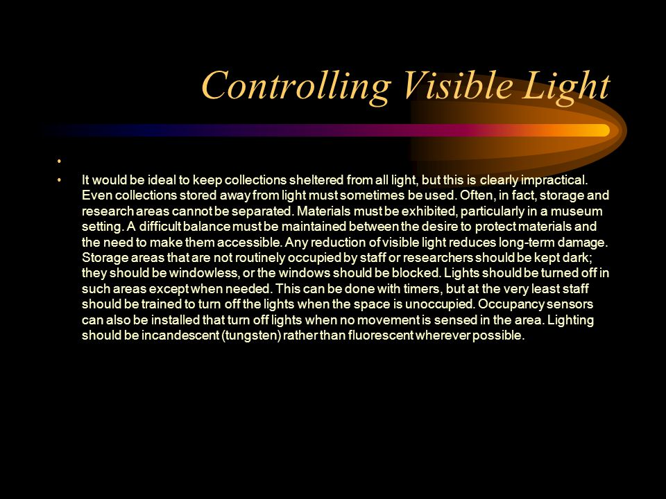 Controlling Visible Light