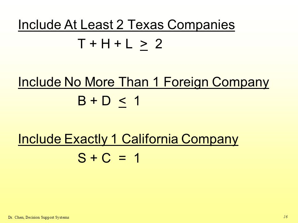 Include At Least 2 Texas Companies