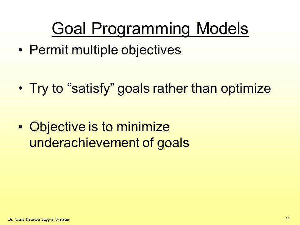 Goal Programming Models