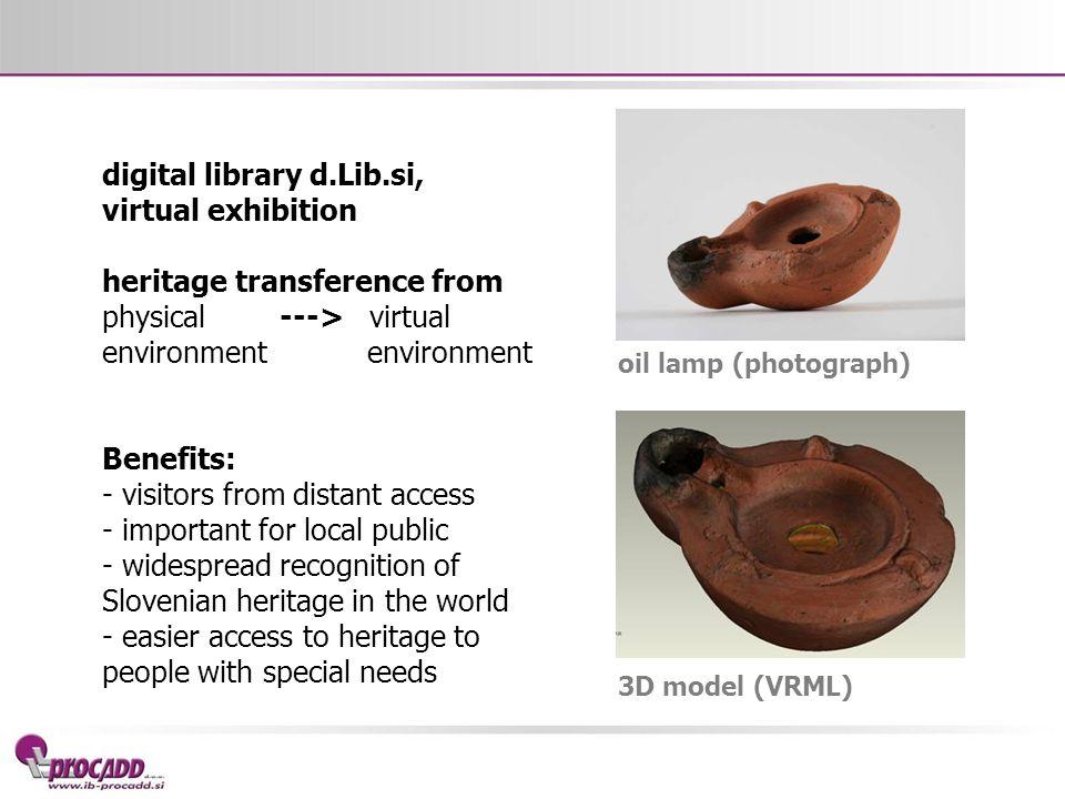digital library d.Lib.si, virtual exhibition