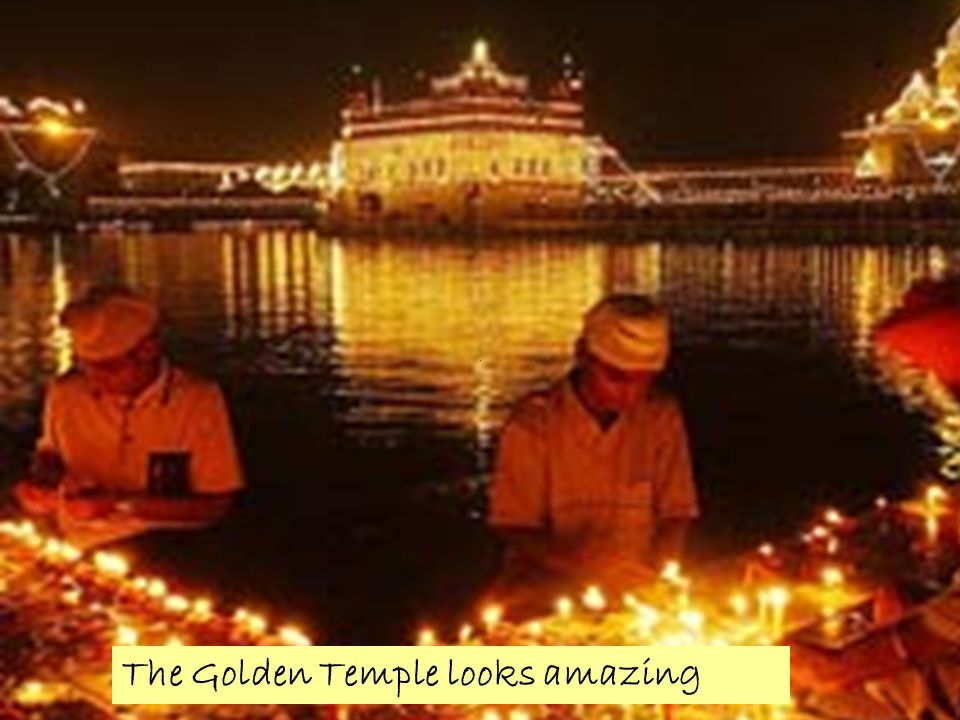 The Golden Temple looks amazing