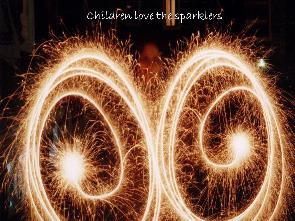 Children love the sparklers