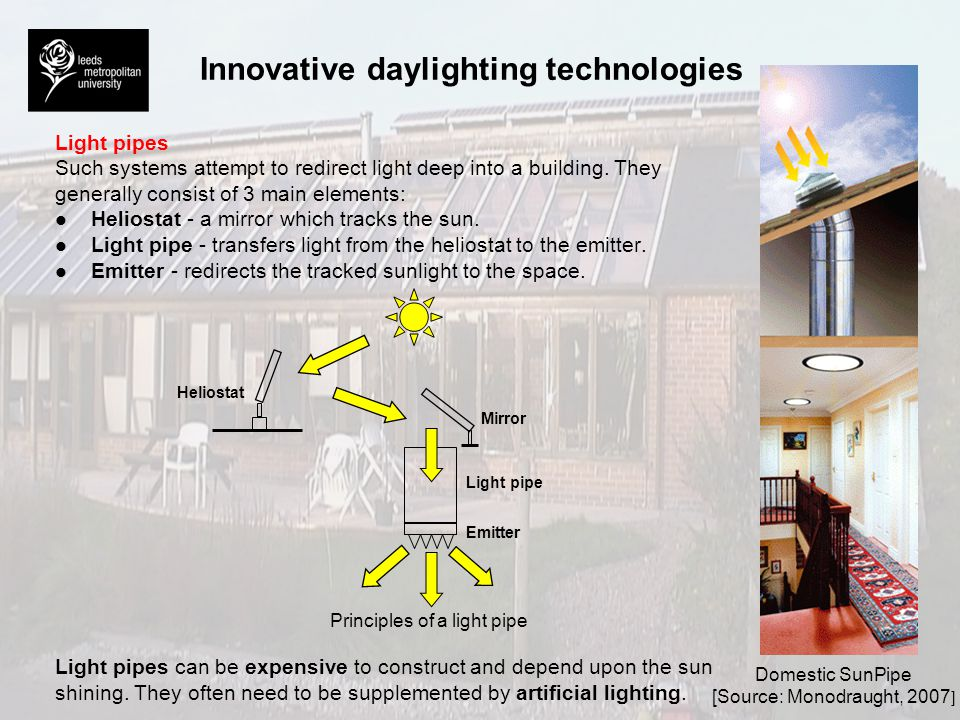 Innovative daylighting technologies