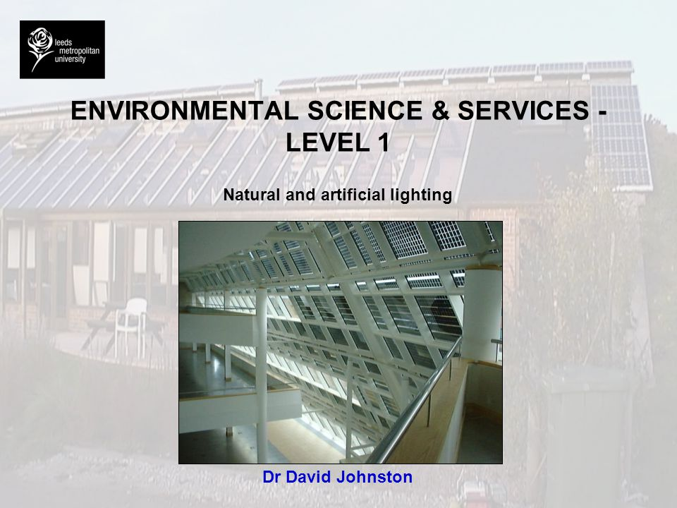 ENVIRONMENTAL SCIENCE & SERVICES - LEVEL 1