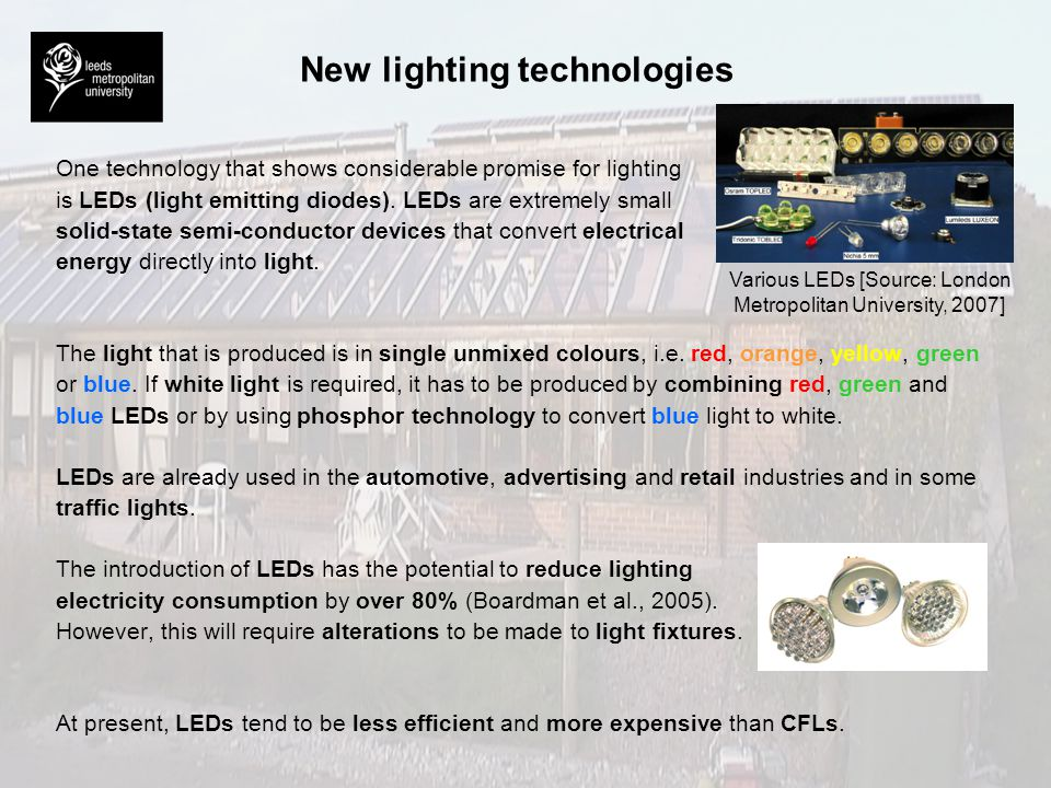 New lighting technologies