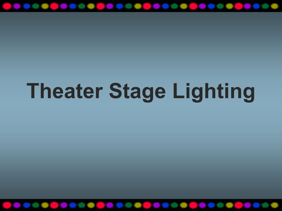 Theater Stage Lighting