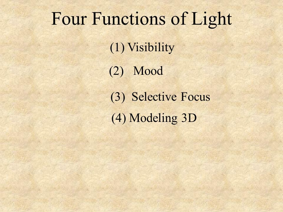 Four Functions of Light