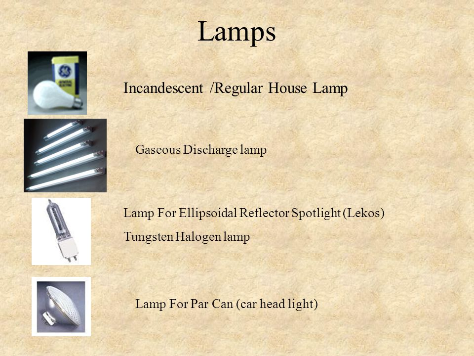 Lamps Incandescent /Regular House Lamp Gaseous Discharge lamp