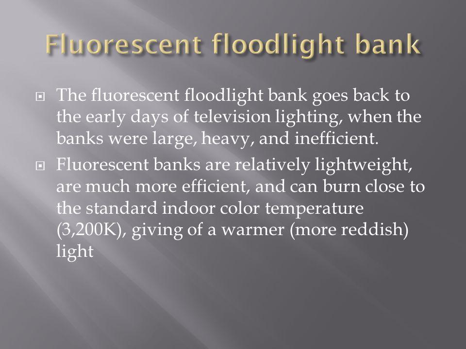 Fluorescent floodlight bank