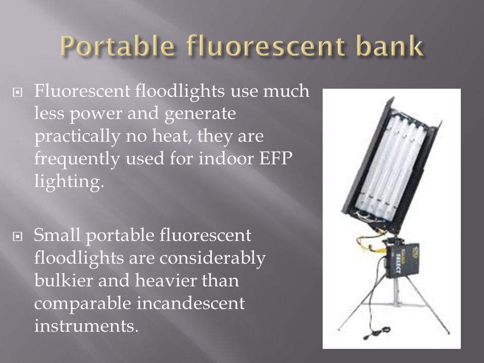 Portable fluorescent bank
