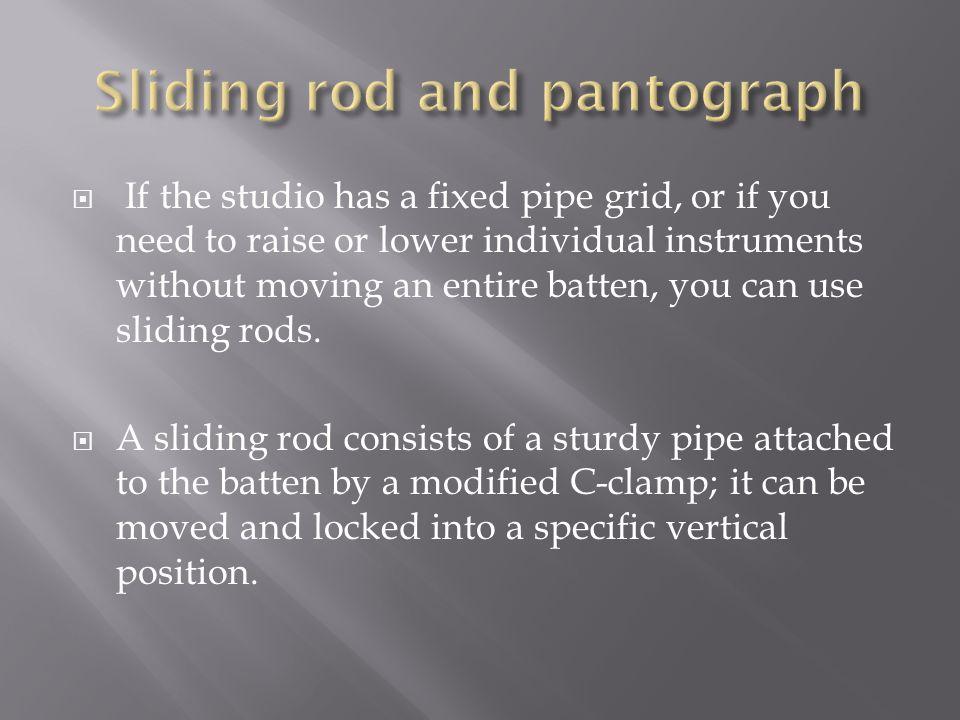 Sliding rod and pantograph