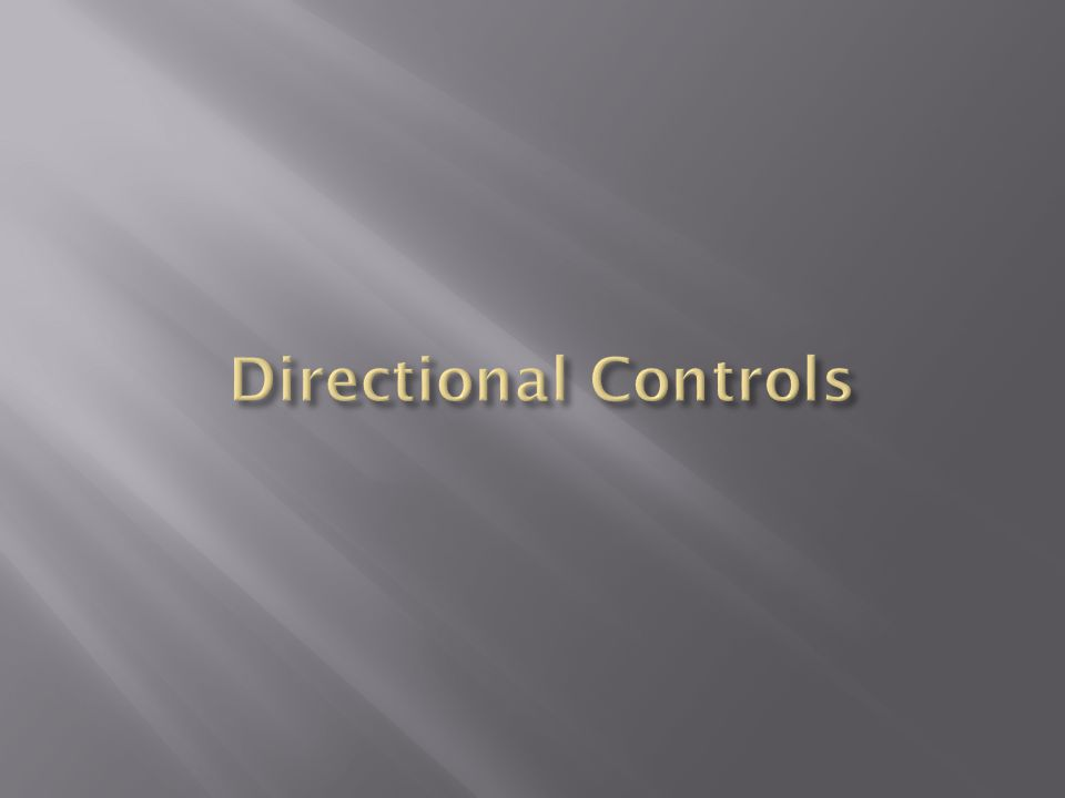 Directional Controls