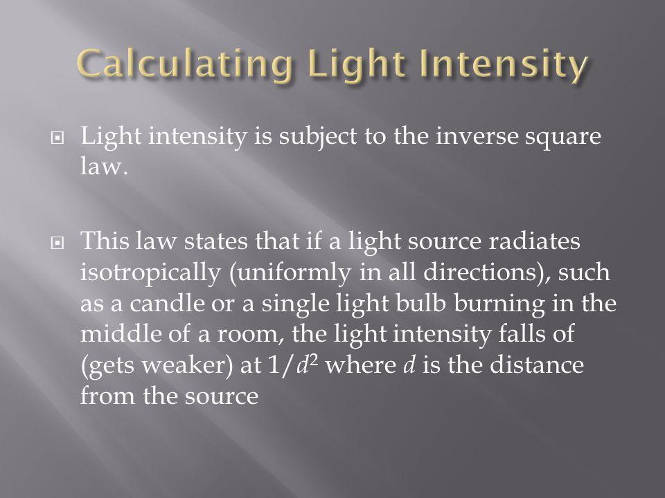 Calculating Light Intensity