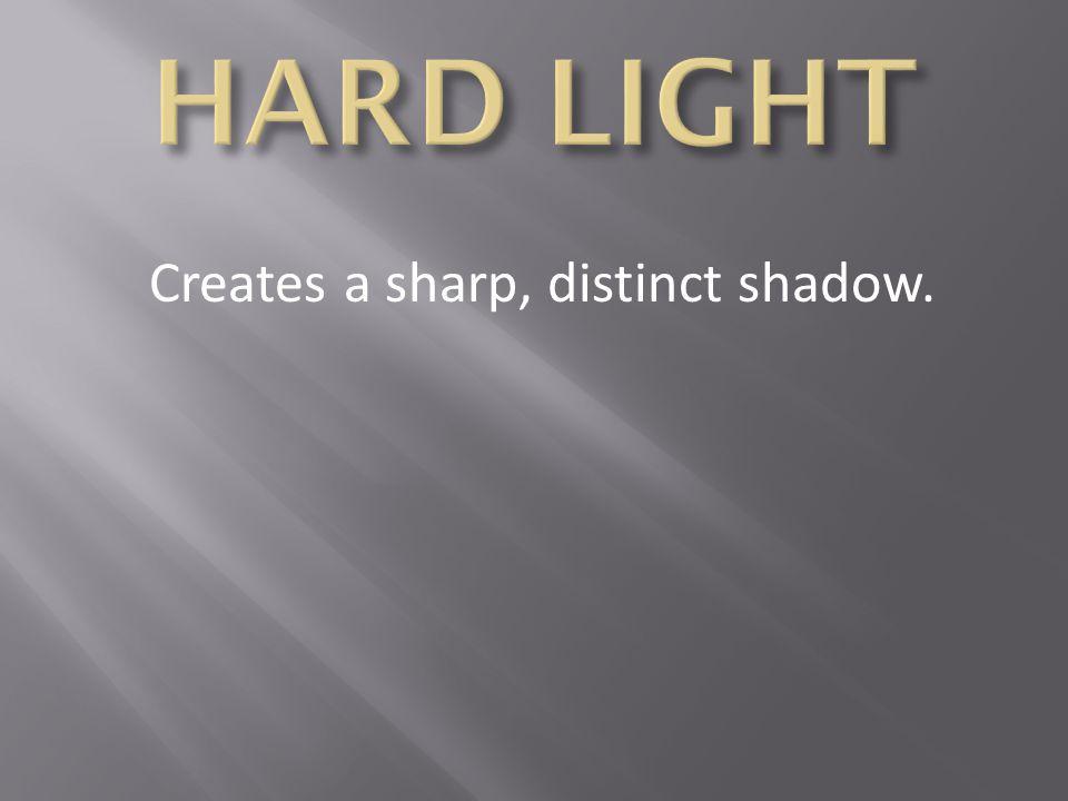Creates a sharp, distinct shadow.