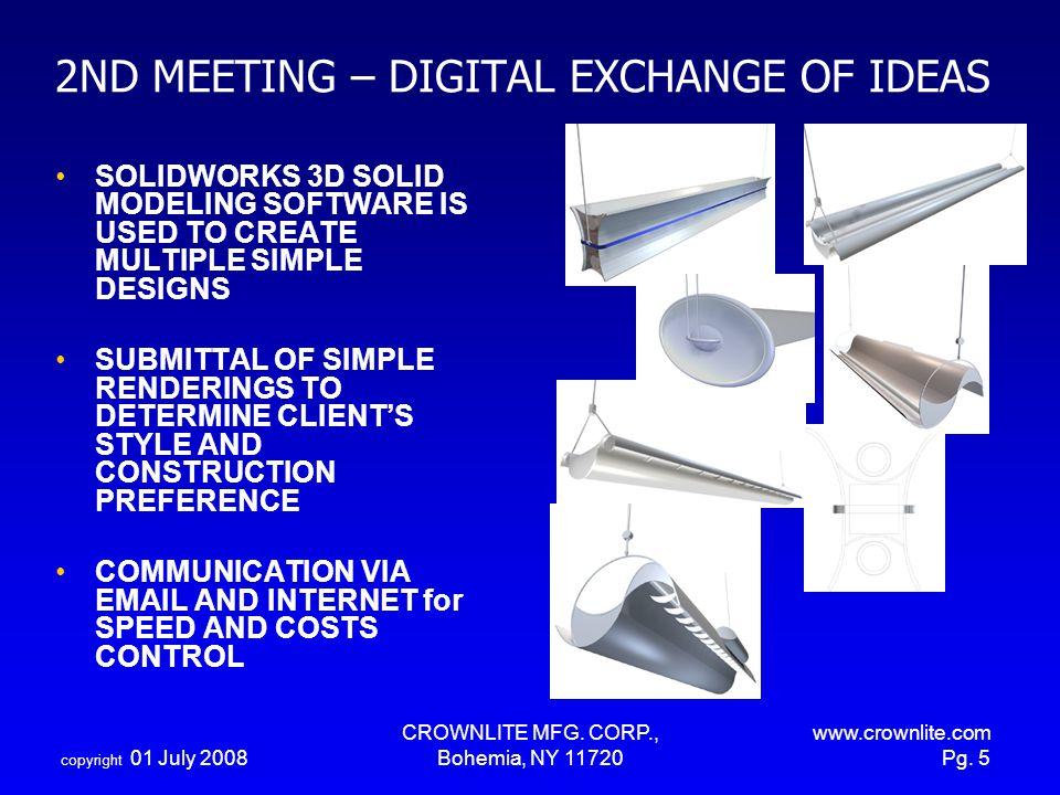 2ND MEETING – DIGITAL EXCHANGE OF IDEAS