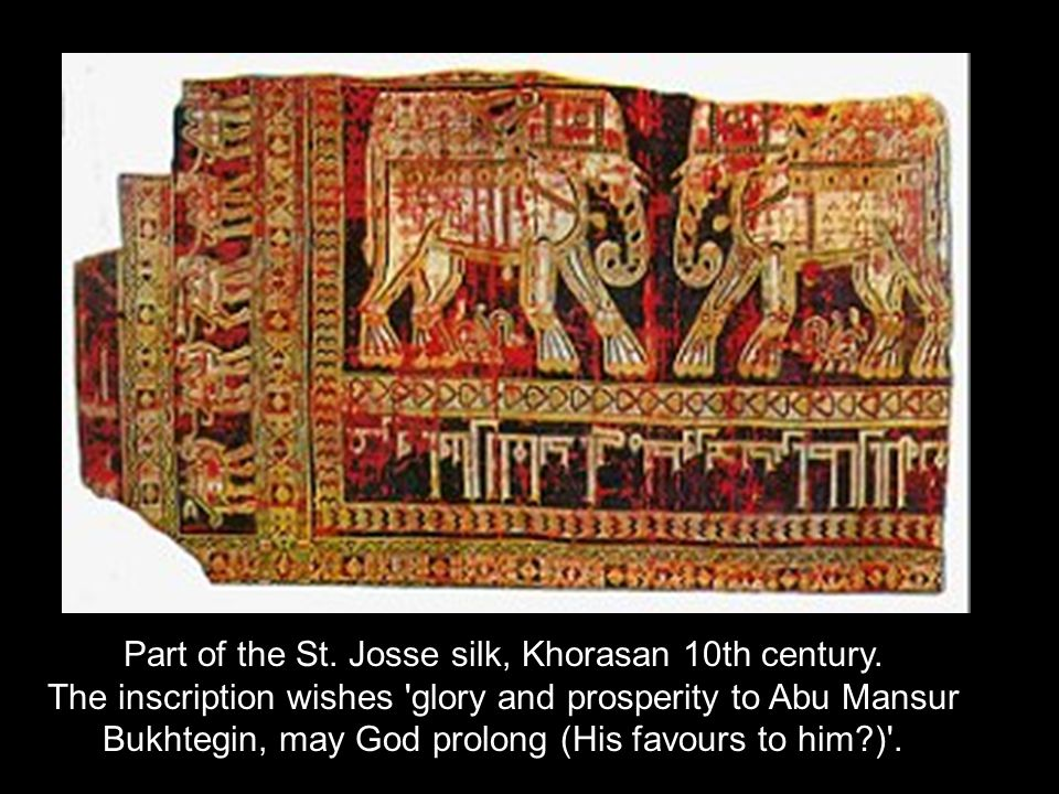 Part of the St. Josse silk, Khorasan 10th century