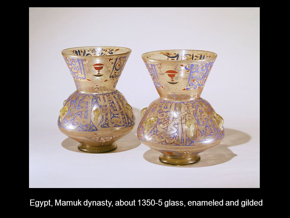Egypt, Mamuk dynasty, about 1350-5 glass, enameled and gilded
