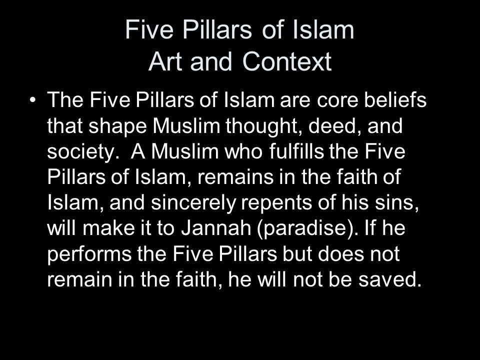 Five Pillars of Islam Art and Context