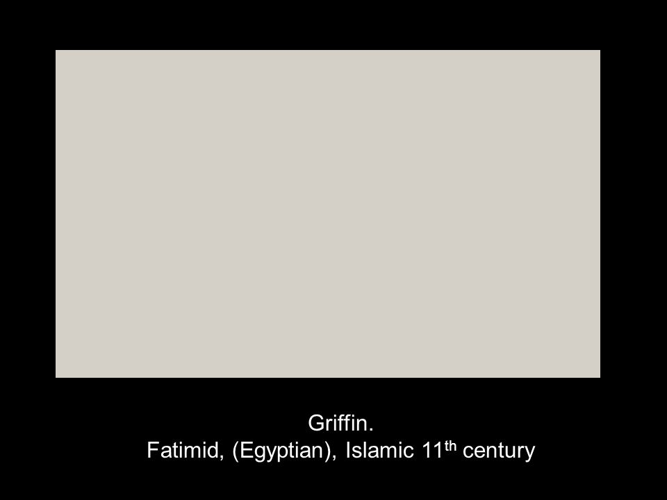 Griffin. Fatimid, (Egyptian), Islamic 11th century