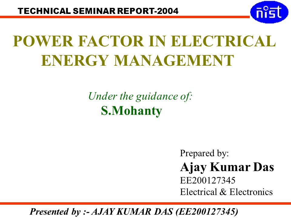 POWER FACTOR IN ELECTRICAL ENERGY MANAGEMENT