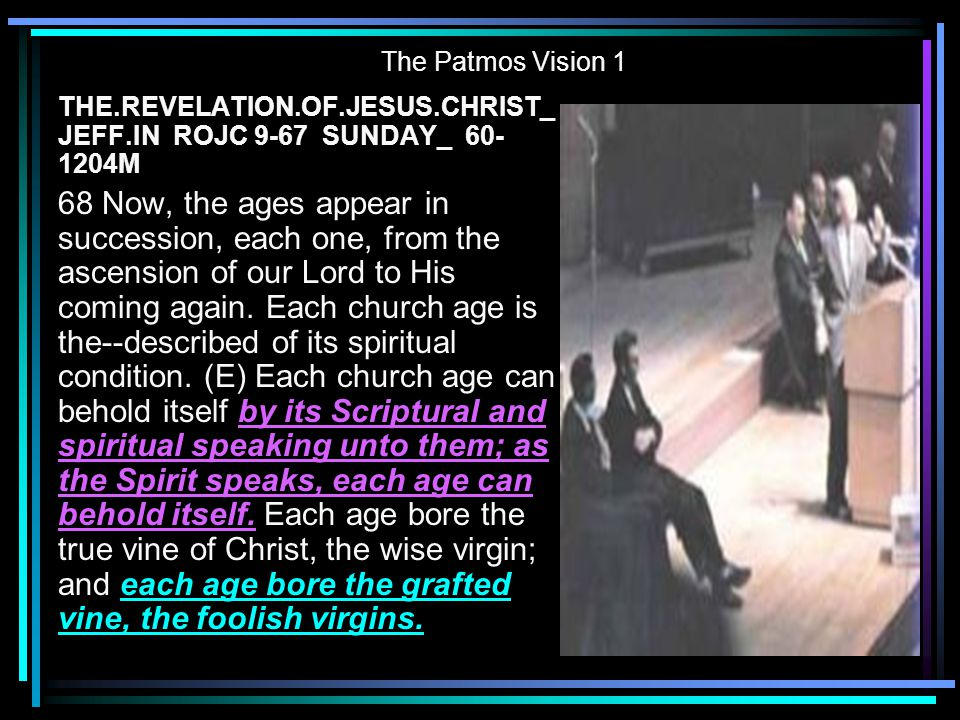 The Patmos Vision 1 THE.REVELATION.OF.JESUS.CHRIST_ JEFF.IN ROJC 9-67 SUNDAY_ 60-1204M.