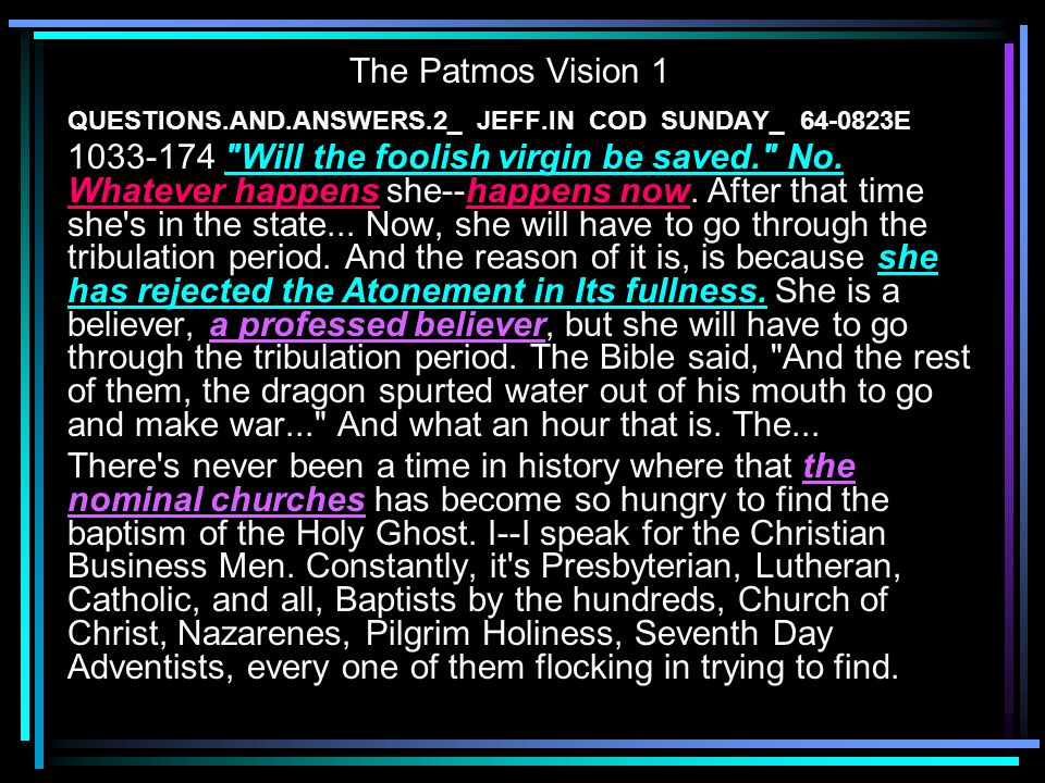 The Patmos Vision 1 QUESTIONS.AND.ANSWERS.2_ JEFF.IN COD SUNDAY_ 64-0823E.