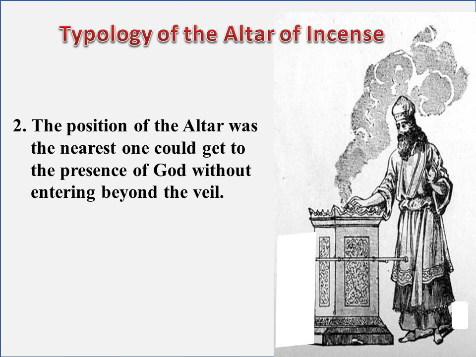 Typology of the Altar of Incense