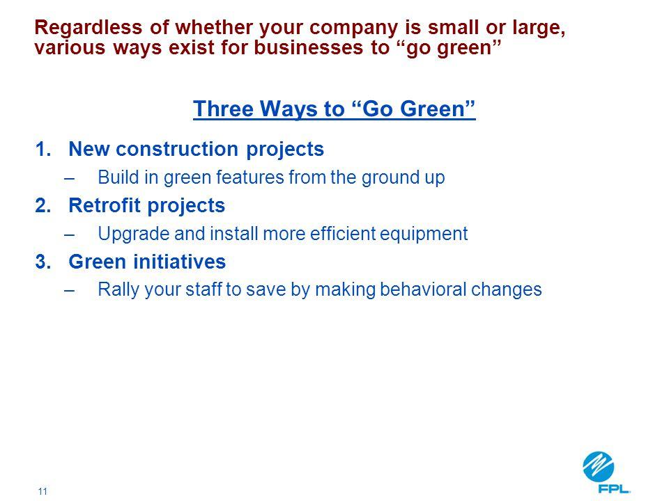 Three Ways to Go Green