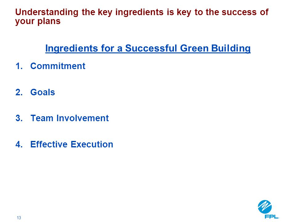 Ingredients for a Successful Green Building