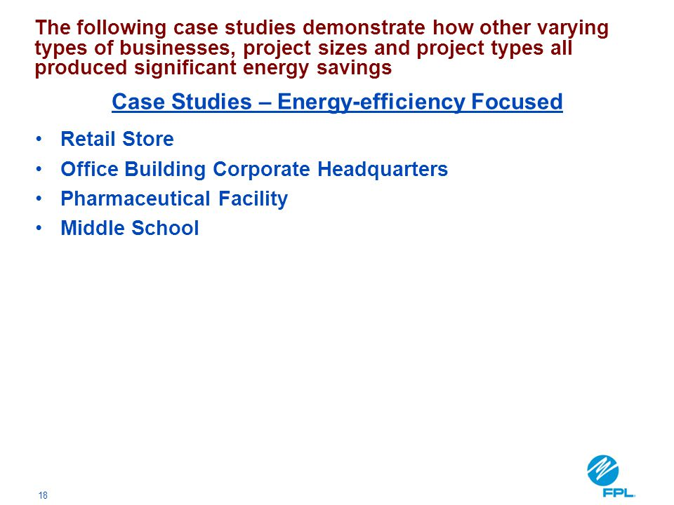 Case Studies – Energy-efficiency Focused