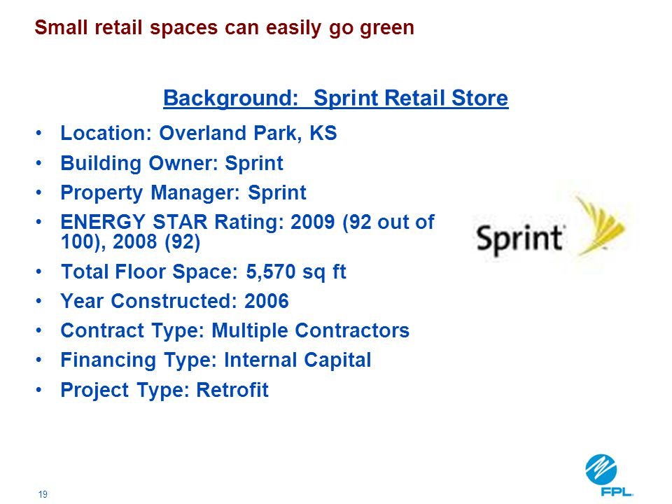 Background: Sprint Retail Store
