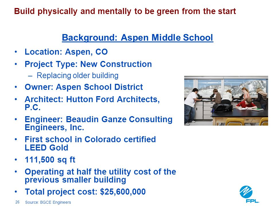 Background: Aspen Middle School