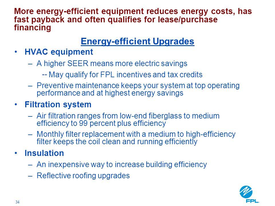 Energy-efficient Upgrades