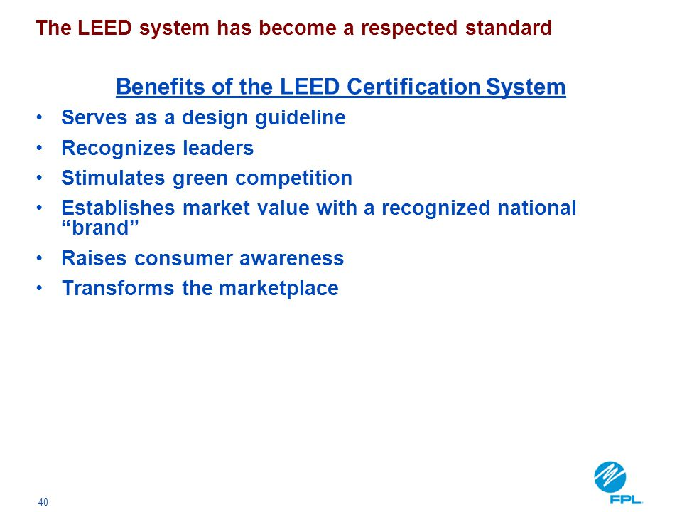 Benefits of the LEED Certification System