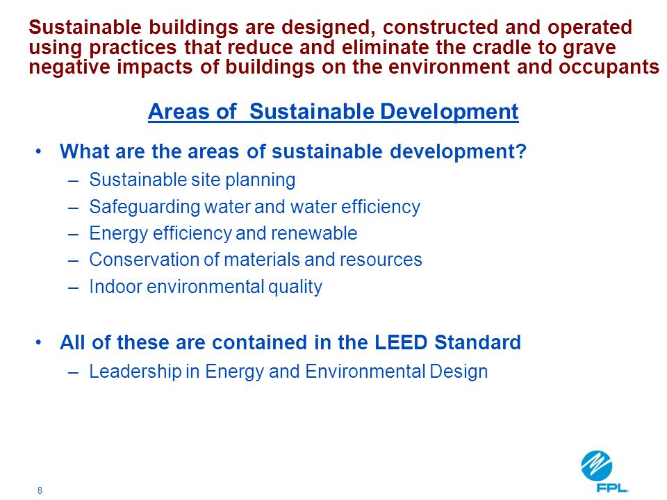Areas of Sustainable Development