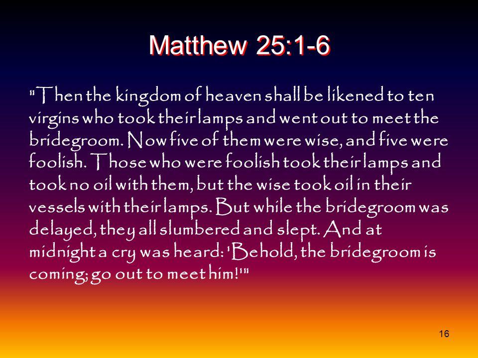 Matthew 25:1-6